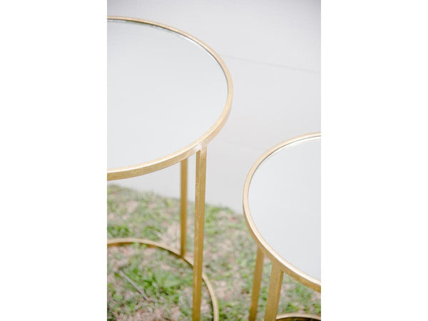 Gold & Mirror Set Tables | Adorn Charleston