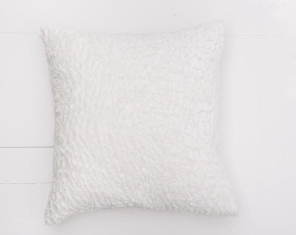 White Fur Pillow | Adorn Charleston