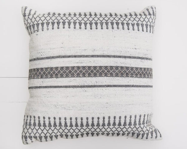 Black Stripe Pillow | Adorn Charleston