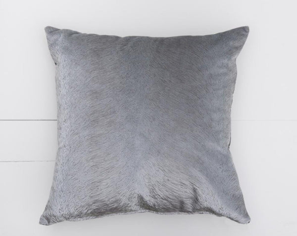 Grey Velvet Pillow | Adorn Charleston