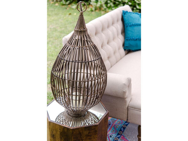 Wicker Lantern | Adorn Charleston