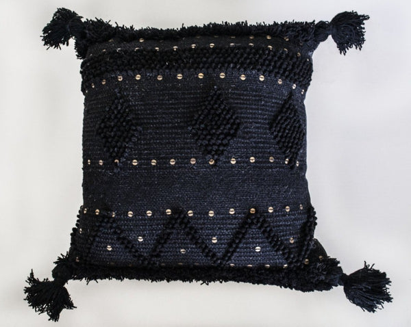 Black Tassel Floor Pillow