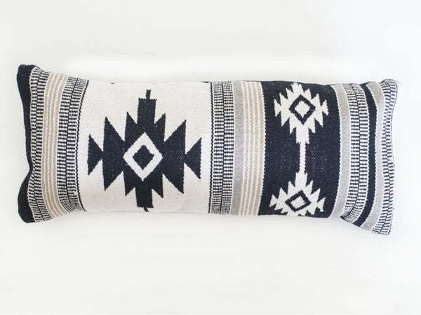 Black Aztec Lumbar Pillow