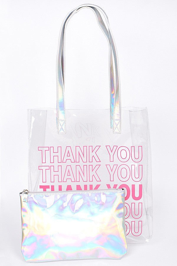 Thank You Holo Tote