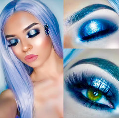 girl wearing dollbaby london lashes