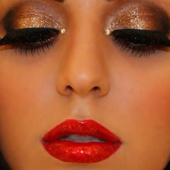 bold christmas party make up