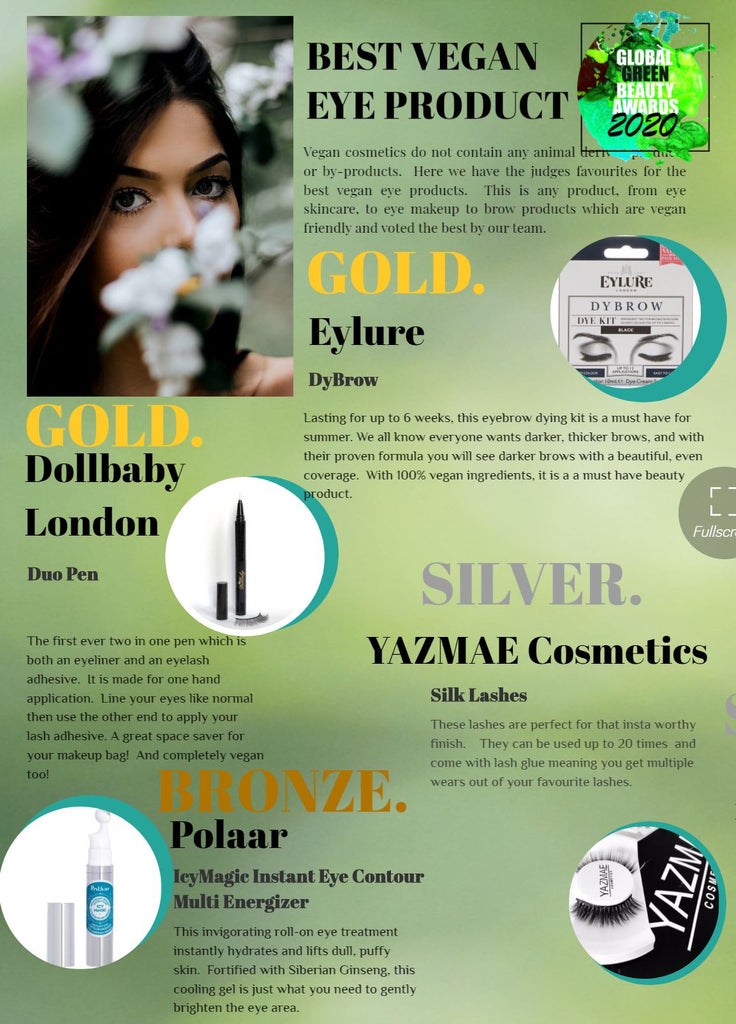 dollbaby award winners at the global green beauty awards 2020