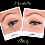 dollbaby marbella magnetic lashes when on the eye