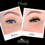 dollbaby london vamp magnetic eyelashes on the eye 2