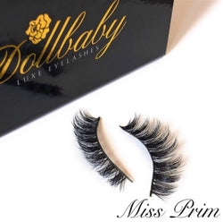 'Miss Prim' Platinum Natural Curled Mink Eyelashes