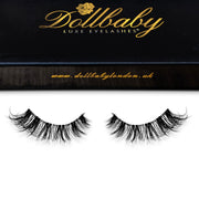 'Marbella' Strip Faux Mink Eyelashes (Non-Magnetic) - Clear Band Wispies