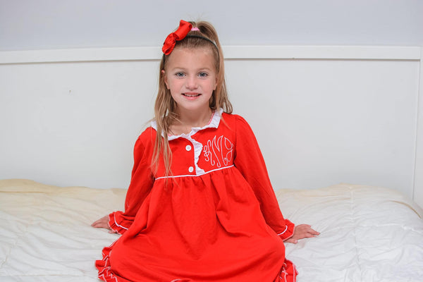Red Ruffle Nightgowns