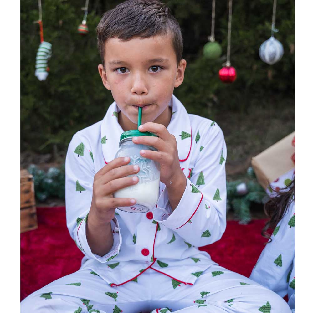 Christmas Tree Buttdown Pajamas