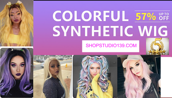Colorful Synthetic / Cosplay Wigs