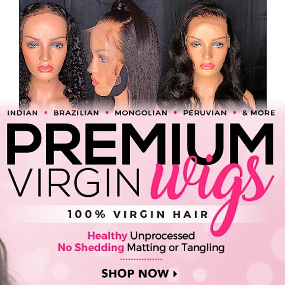 100%Human Hair Lace Front Wigs
