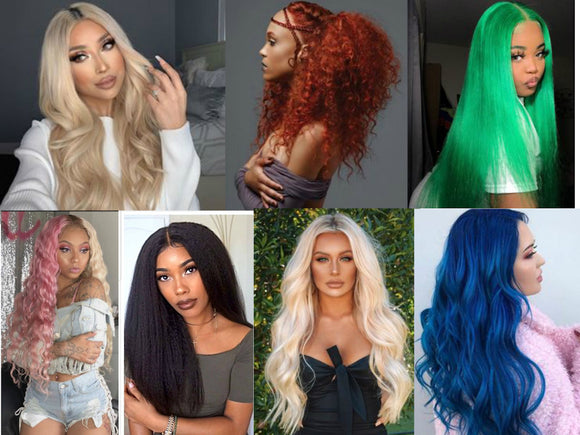 Human Blend Lace Front Wigs