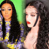 Celebrity inspired 100% Human Hair Water wave lace front