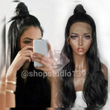 Body wave black lace front wig 24inches