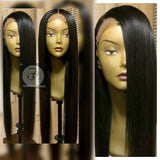100% virgin Remy human hair straight lace front wig