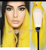 Mello yellow Synthetic Lace Front Wig