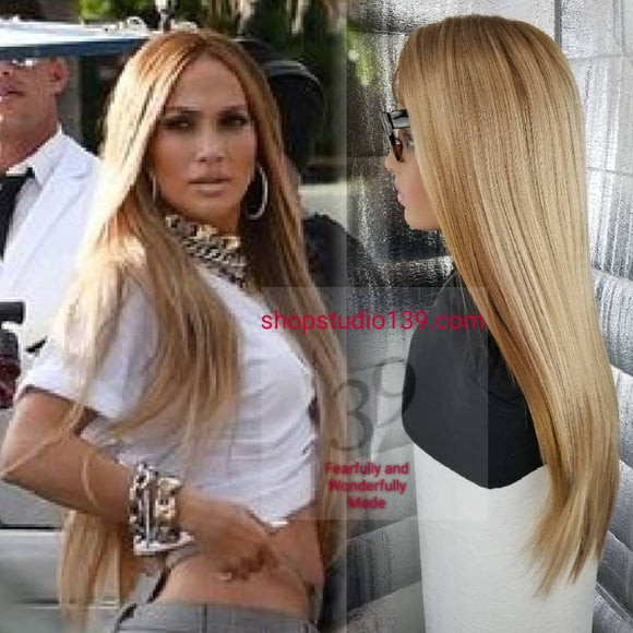 (ANA )Golden Blonde ombre lace front wig