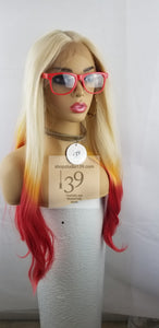 Fire starter color lace front wig 3 tone