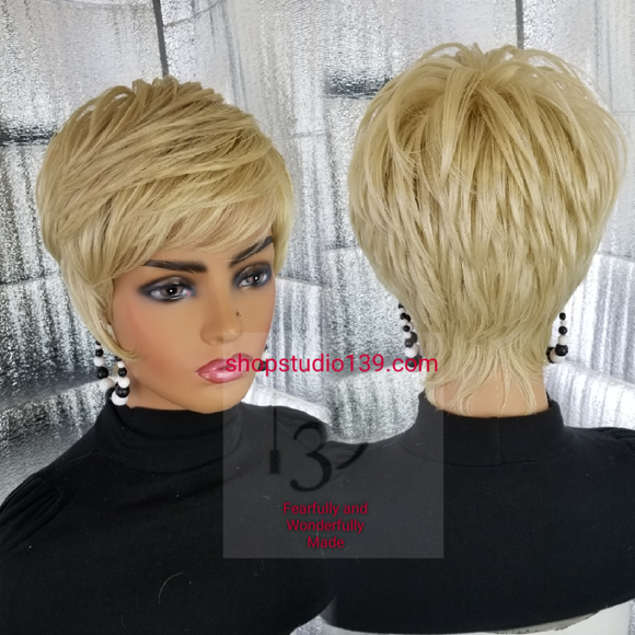 (Pretty Chic) pixie cut wig with side burns