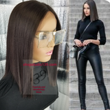 (Tanya) Colorful blunt cut bob lace front Wig