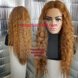 (Denise) Sexy Honey colored water wave wig