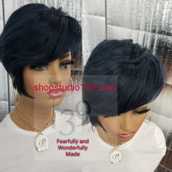 Vicki is a Human Hair Short pixie tapered wig