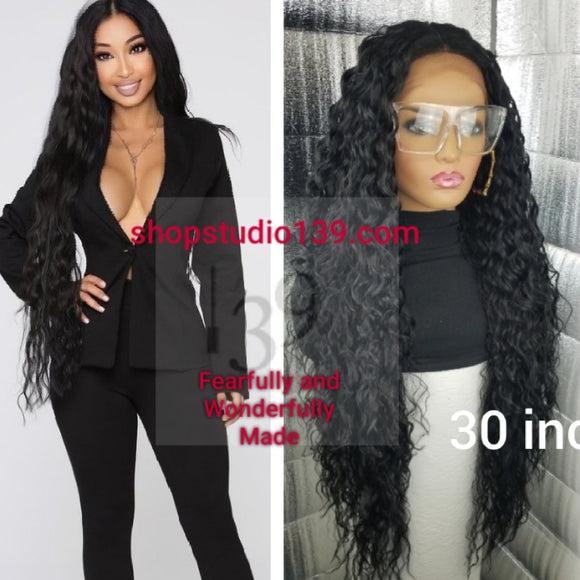 30 inches of beautiful curls lace front wig