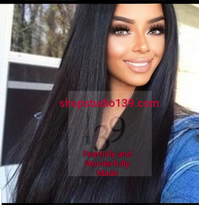 Yaki lace front wig with shifting part