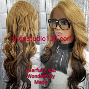 (Raven) Sexy 3tone lace front Body wave wig
