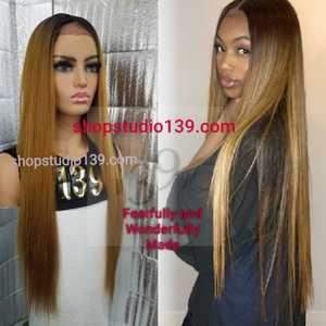 (Denisty) extra long lace front wig with shifting part