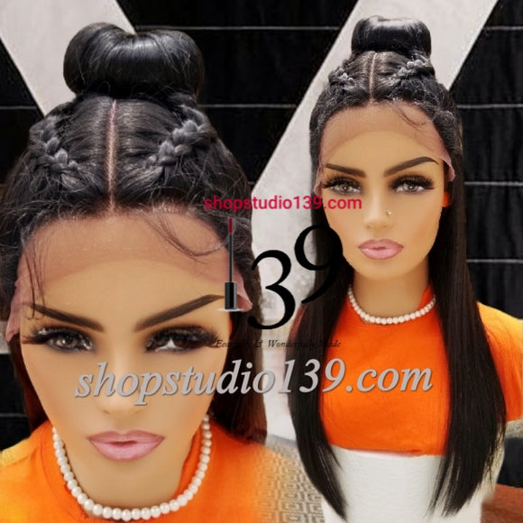(Kendra) Natural Looking 360 lace front muilt part wig