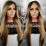 (Faith) Balayage lace front wig with shifting part