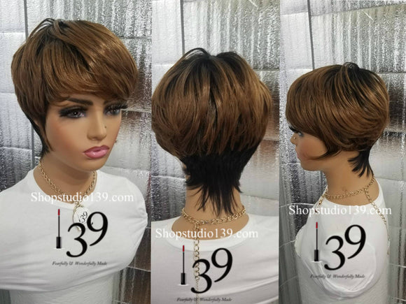 short and sexy pixie wig