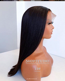 Straight Lace Front  Human Hair 13x4 Lace Frontal Human Hair 150% Density Pre Plucked with Baby Hair