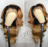 Celebrity inspired 1b/27 Human Hair Bodywave lace front