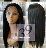 Sky human hair blend lace front wig with multiple parting space