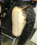 (87) Sexy Water Wave 100% Human Hair Lace Front Wig