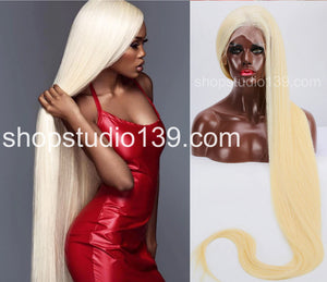 Brazilian Remy Blonde 613 celebrity wow factor 30 inch Beautiful straight Virgin Human Hair full Lace Wig With Free part spaceing 150 density