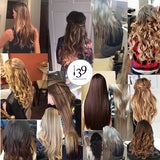 Celebrity Handmade 100% Human full head hair 18 Clip in 8 pcs set