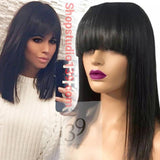 Human Hair Non Lace Bob With The Perfect Bangs