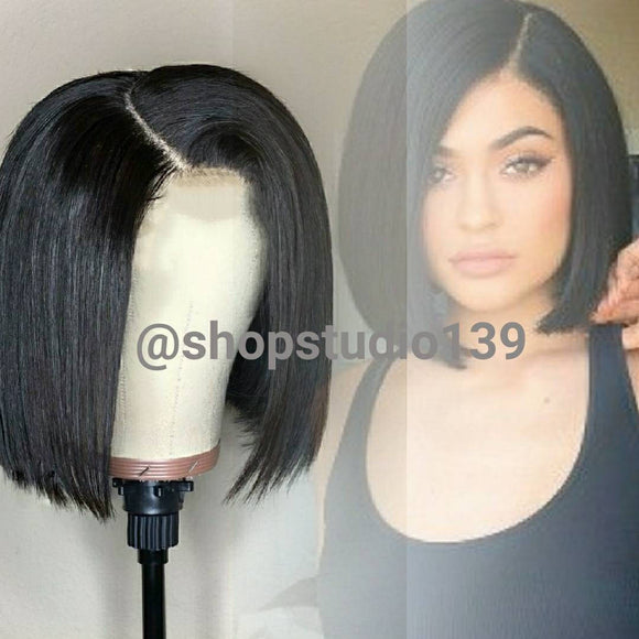 Celebrity inspired human hair lace front Bob custom made