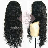 100% Human Hair Water Wave Lace Front Virgin Brazilian Wig
