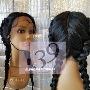 (Sky) Full Lace wig with 360 and  4 way  parting
