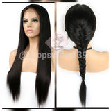 8N1 human hair double braided lace front wig