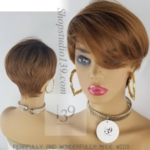 Mia Honeyblonde pixie cut wig with tapered back