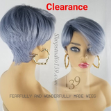 Mia is a beautiful short pixie tapered wig with bangs perfect for all skin tones